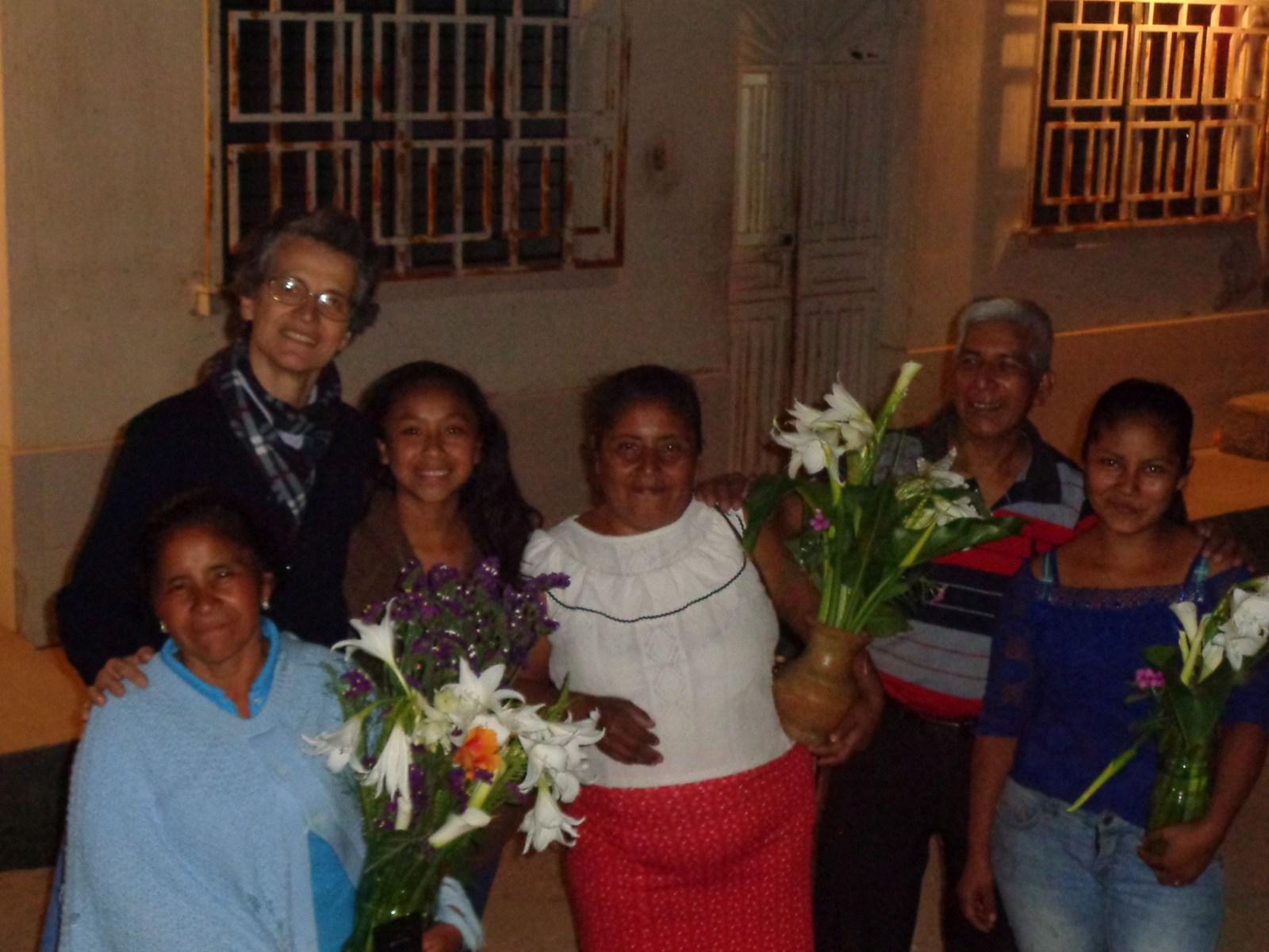 Kl. Sr. Chantal bei einem Treffen in der Pfarrei